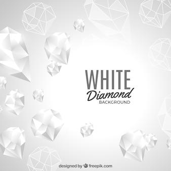 Biały diamentowy tło