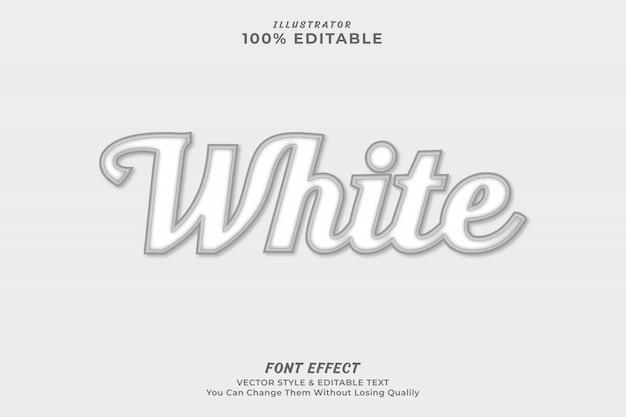 Biały edytowalny efekt tekstowy