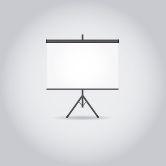 Biały ekran projekcyjny