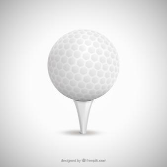 Biały golf piłka