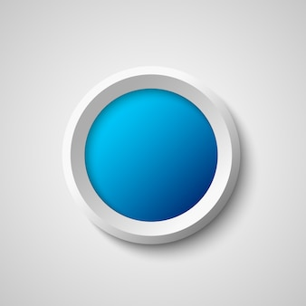 Biały i niebieski okrągły przycisk web.