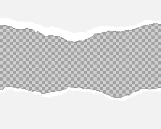 Biały i szary realistyczny poziomy papier