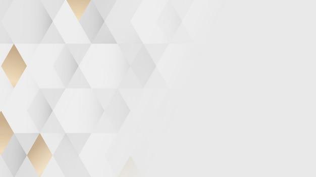 Biały i złoty wzór geometryczny wektor tła