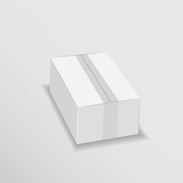 Biały karton łatwo zmienić kolory makiety szablon wektora