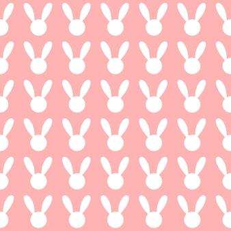 Biały królik różowy tło