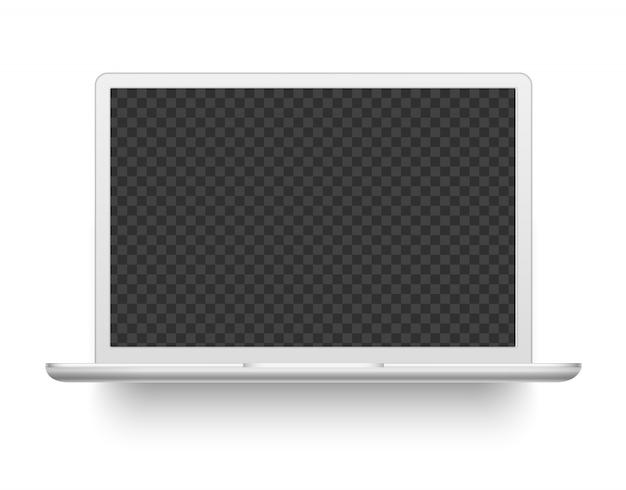 Biały laptop. ilustracja urządzenia elektronicznego