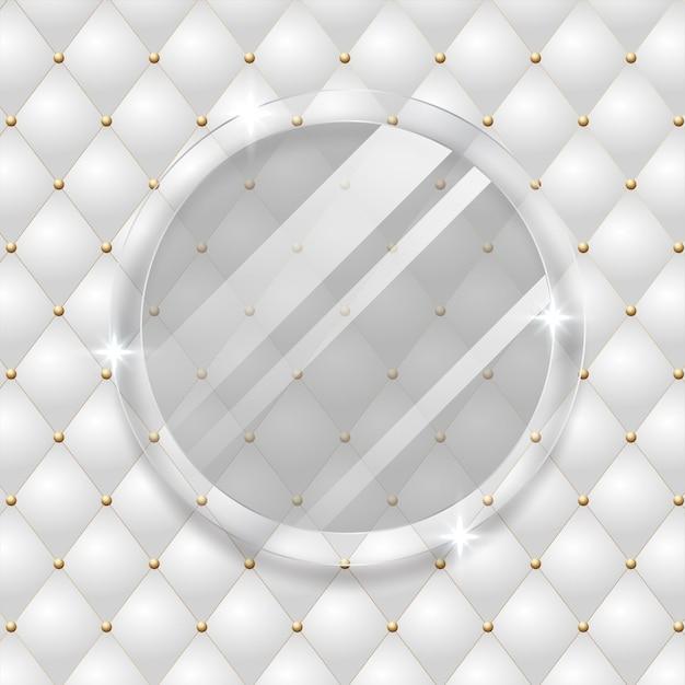 Biały luksusowy streszczenie ze złotymi liniami i cieniami