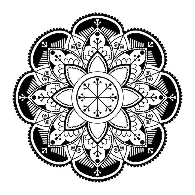 Biały mandala wzór na białym tle