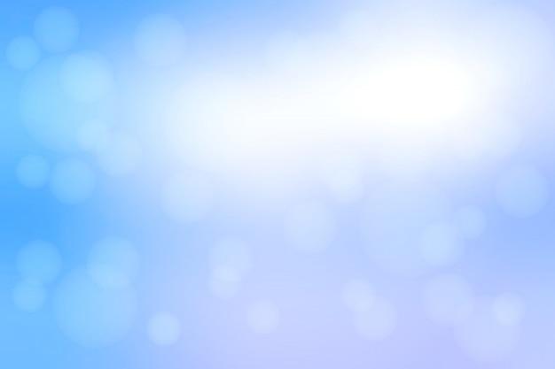 Biały niebieski odcienie streszczenie z bokeh świateł rozmazane tło