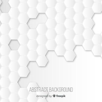Biały papier 3d styl tło