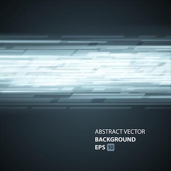 Biały pasek techno z cyfrowym abstrakcyjnym tłem. szablon geometryczny z czarnym gradientowym jasnym blaskiem.