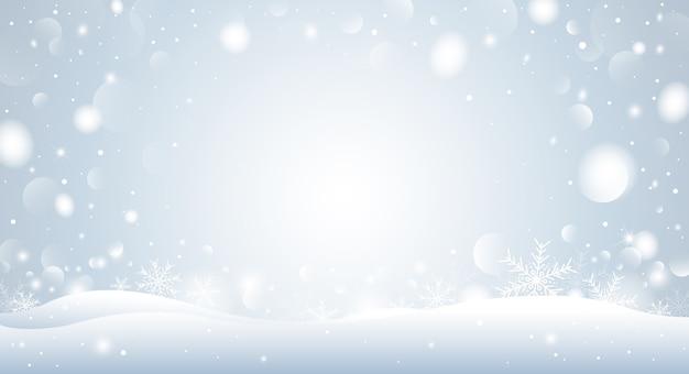 Biały płatek śniegu i światło bokeh