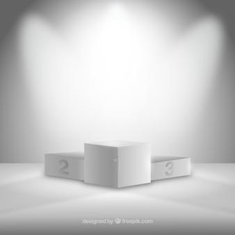 Biały podium