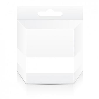 Biały pojemnik z makieta