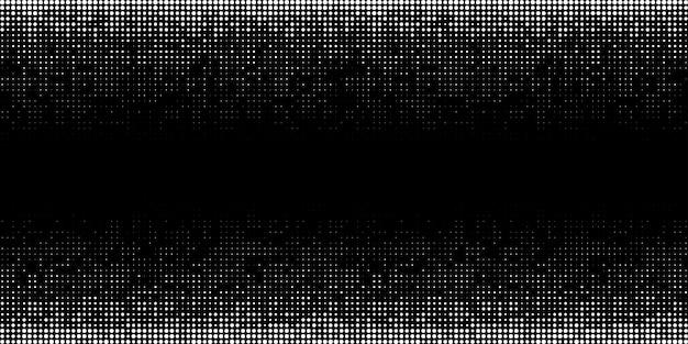 Biały półtonowy wzór gradientu poziomego tło przy użyciu tekstury losowych punktów rastrowych grunge