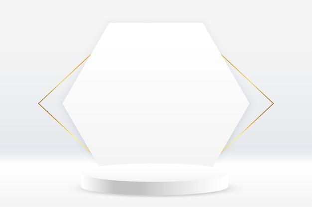 Biały projekt tła wyświetlacza na podium