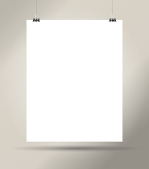 Biały pusty arkusz papieru