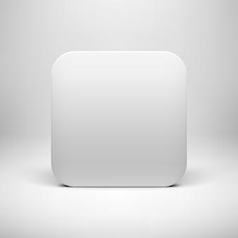 Biały pusty przycisk ikona aplikacji szablonu