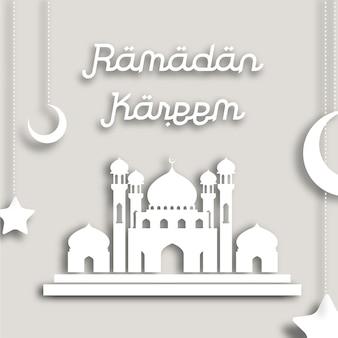 Biały ramadan kareem tło
