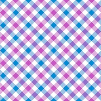 Biały różowy niebieski kratka kratka tkanina tekstura wzór