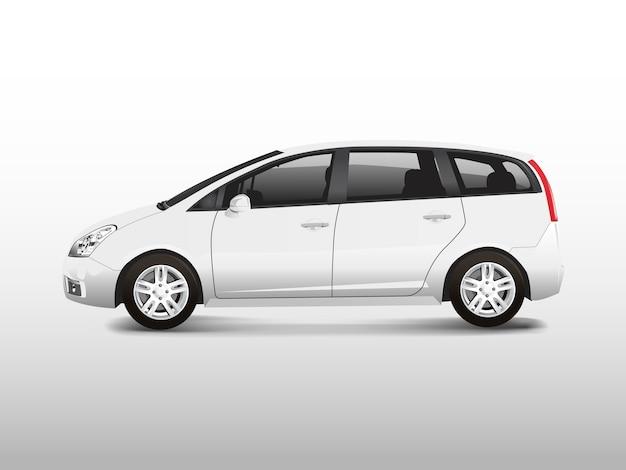 Biały samochód minivan mpv wektor