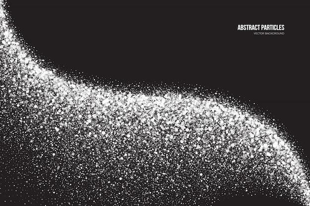 Biały shimmer świecące tło cząstek