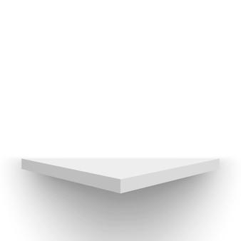 Biały stojak wystawowy półka na cokole ilustracja wektorowa