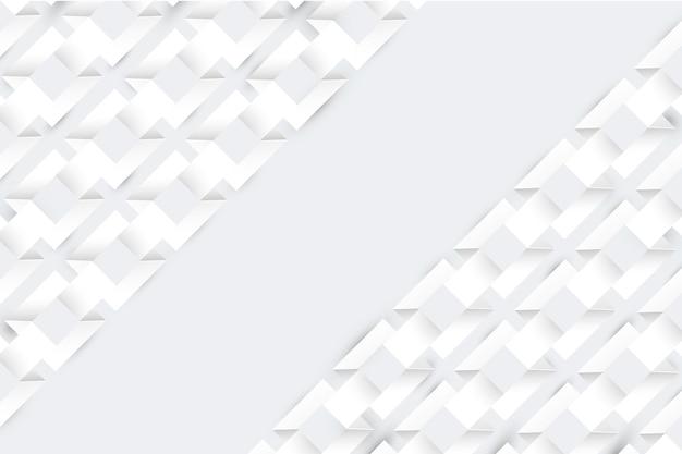 Biały streszczenie wygaszacz ekranu w stylu papieru 3d