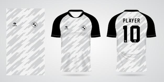 Biały szablon koszulki sportowej na stroje drużynowe i projekt koszulki piłkarskiej
