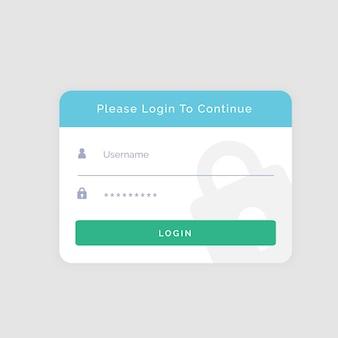 Biały szablon logowania do swojej witryny lub aplikacji