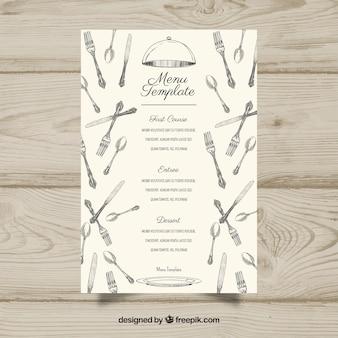 Biały szablon menu