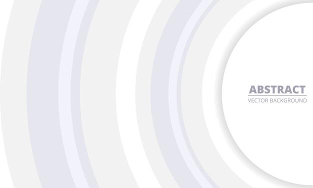 Biały szary geometryczne streszczenie tło. srebro okręgi w centrum na białym tle. nowoczesne, modne tło.