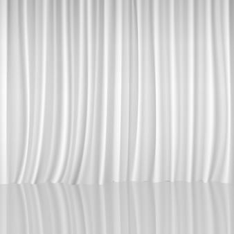 Biały tle kurtyny