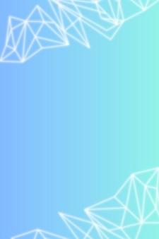 Biały wielokątny wzór na niebieskawym tle gradientu społecznego szablonu wektoru