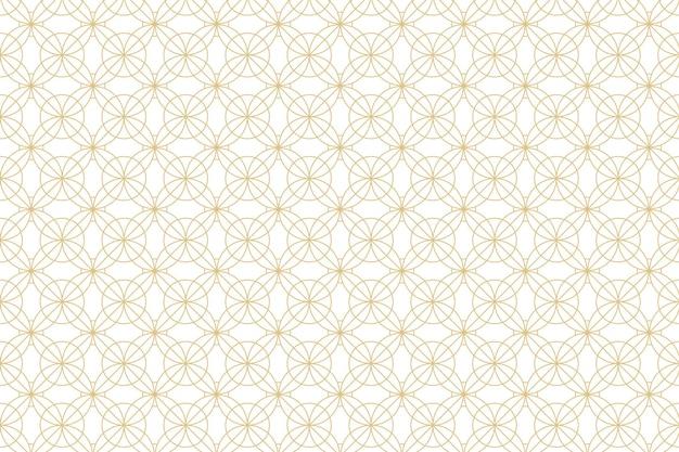 Biały ze złotym wzorem geometrycznym