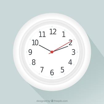 Biały zegar