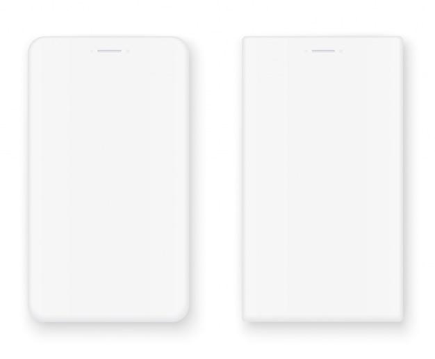 Biały zestaw smartfonów