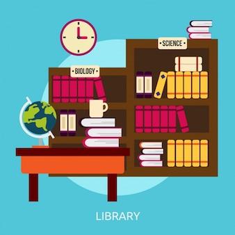 Biblioteka wzór tła
