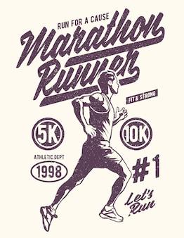 Biegacz w maratonie