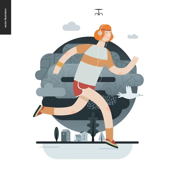 Biegacze - facet ćwiczący
