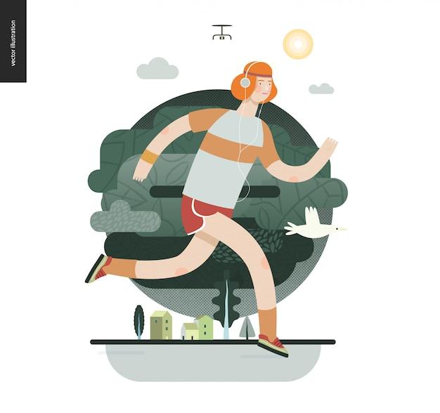 Biegacze z facetem ćwiczenia