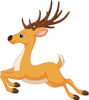 Bieganie kreskówka jelenia