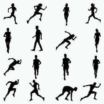 Bieganie sylwetki