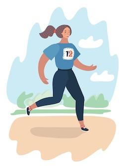 Biegowy maraton fitness