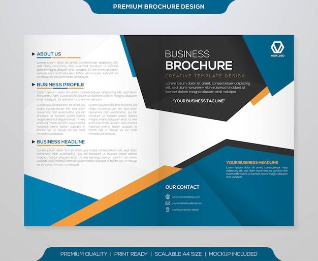 Bifold broszura szablon wektor