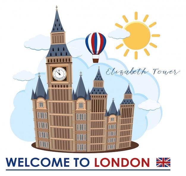Big ben w londynie landmark