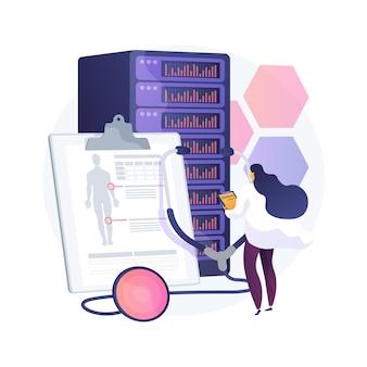 Big data w ilustracji abstrakcyjnej koncepcji opieki zdrowotnej