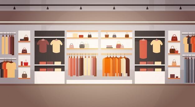 Big fashion shop super market kobieta ubrania centrum handlowe wnętrze banner z miejsca kopiowania