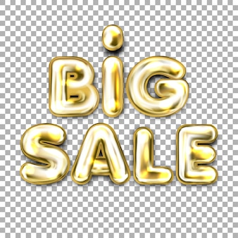 Big sale złoty balon foliowy napis