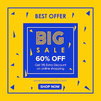 Big summer sale oferty banner design